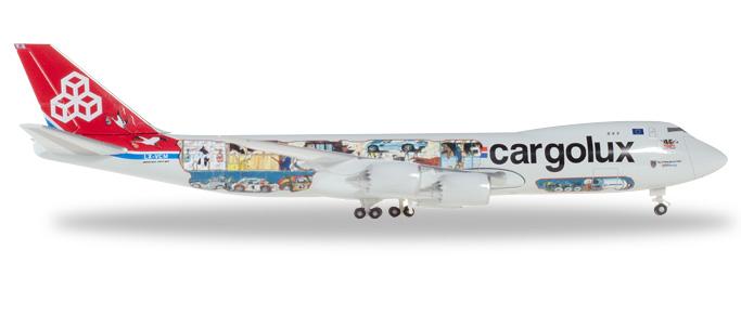 "529716  Boeing 747-8F ""Cargolux 45th Anniversary (L)"", Herpa Wings"