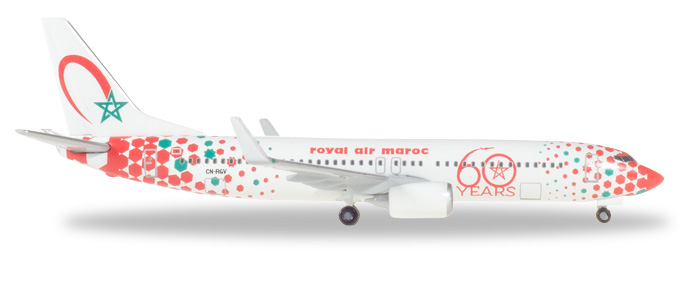 "531153    Boeing 737-800 ""Royal Air Maroc 60th anniversary"", Herpa Wings"