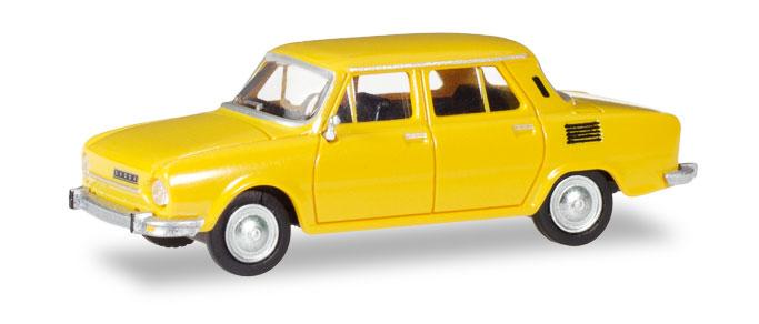 28820  Skoda 110 L, geel, Herpa