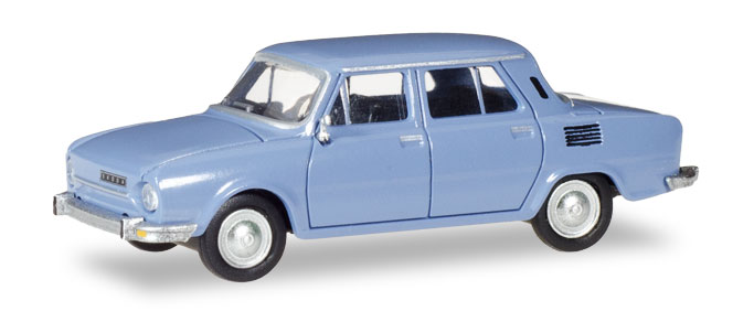 28837  Skoda 110 L, blauw, Herpa
