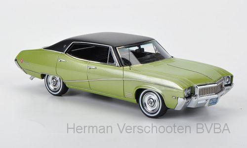 44705  Buick Skylark Sedan met. lichtgroen/matzwart, Neoscale Models