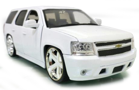 97299    2010 Chevy Tahoe, wit, Jada Toys