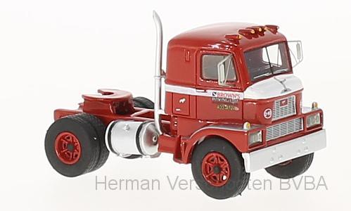 bos87366  Mack H-67, rood, Bos