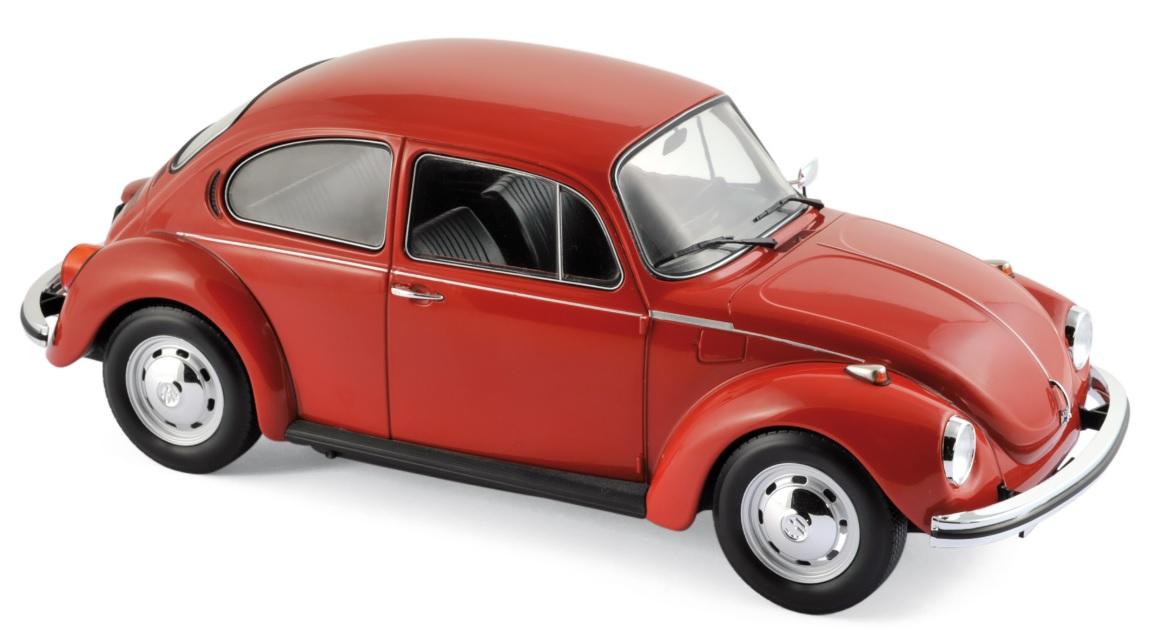 188520  VW Kever 1303 1973, rood, Norev