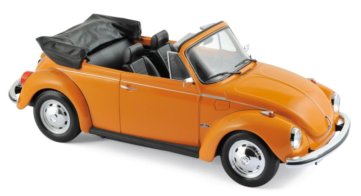 188521  VW Kever 1303 Cabriolet 1973, oranje, Norev