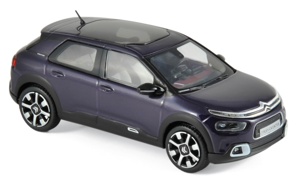 155477    Citroën C4 Cactus 2018, Deep Purple & White deco, Norev