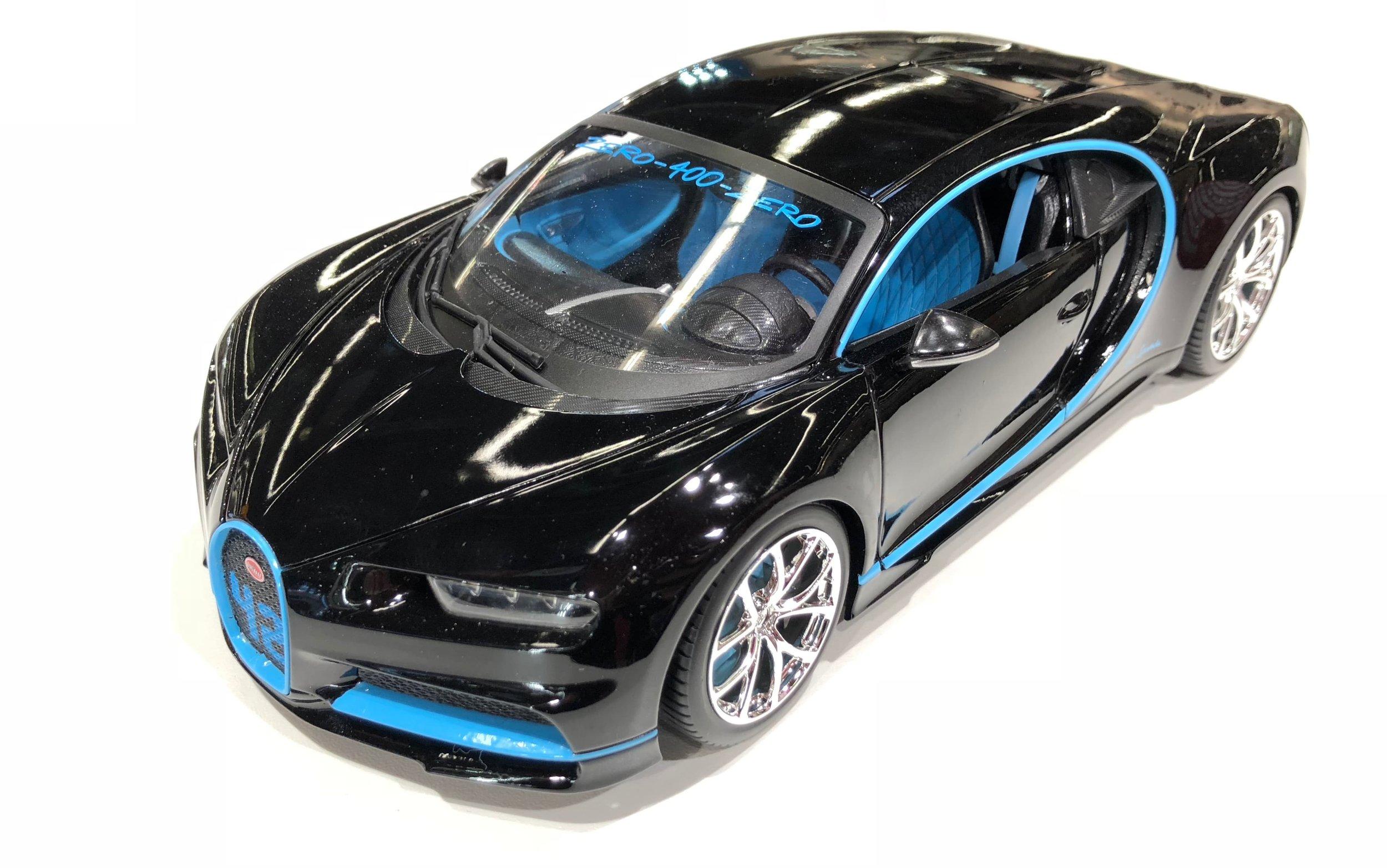 "18-11040BK  Bugatti Chiron ""Zero-400-Zero Montoya"", Bburago"