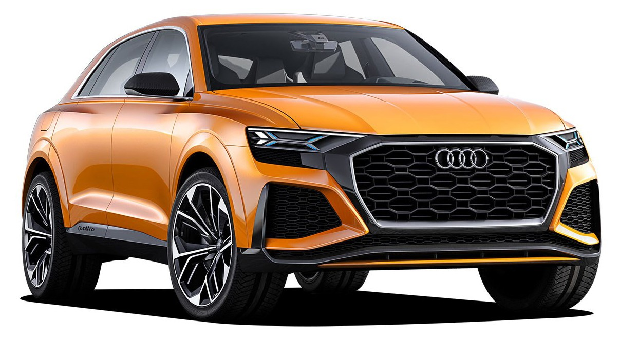 501.17.086.31    Audi Q8 2017, Dragon Orange, Norev
