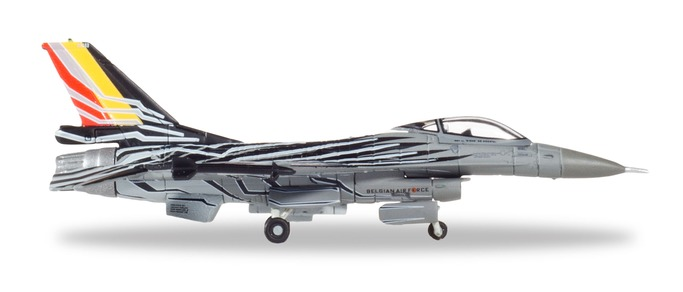 """558990  F-16AM """"Belgian Air Force Solo Display Team (B)"""", Herpa Wings"""