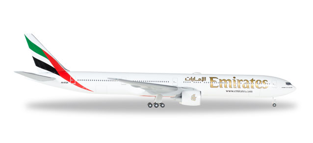"518277-004    Boeing 777-300ER ""Emirates A6-EQA"", Herpa Wings"