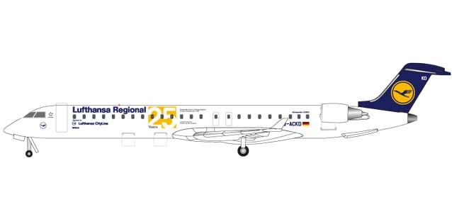 "531337  Bombardier CRJ-900 ""Lufthansa Regional 25 Years CRJ"", Herpa Wings"