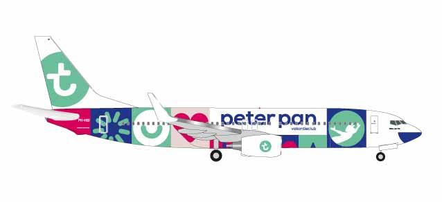 """531450  Boeing 737-800 """"Transavia Peter Pan (NL)"""", Herpa Wings"""