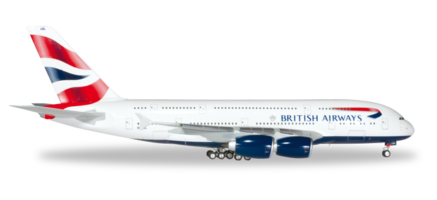 "556040-001    Airbus A380-800 ""British Airways G-XLEL"", Herpa Wings"