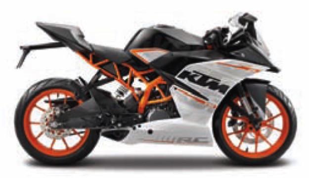 14175  KTM RC390, zwart/oranje, Maisto