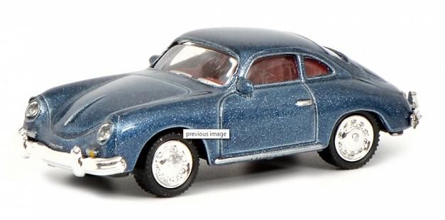 452637700  Porsche 356 Coupé, blauw, Schuco