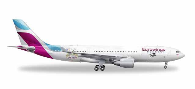 """531436 Airbus A330-200 """"Eurowings Las Vegas"""", Herpa Wings"""