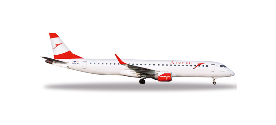 "531641 Embraer E195 ""Austrian Airlines City of Prague"", Herpa Wings"