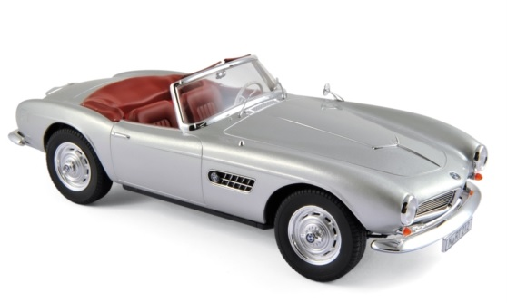 183230 BMW 507 Cabriolet 1956, zilver, Norev