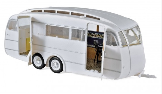 185726 Caravane Hénon 1955, wit, Norev