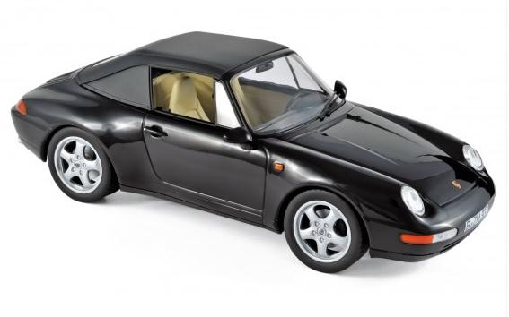 187595 Porsche 911 Carrera Cabriolet 1993, zwart, Norev