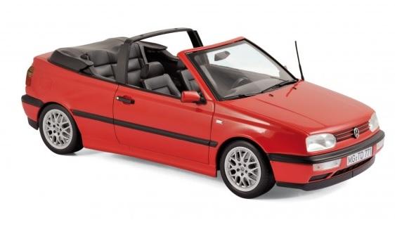 188433 Volkswagen Golf Cabriolet 1995, rood, Norev
