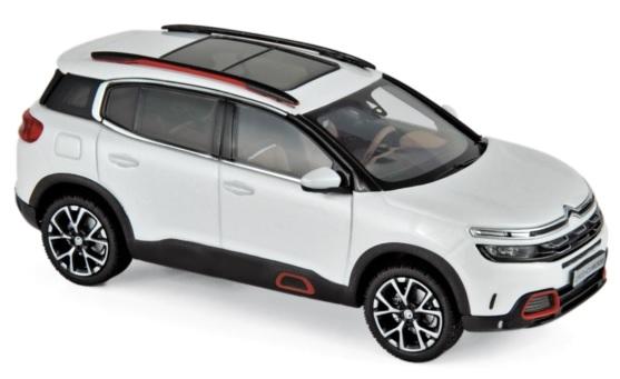 155560 Citroën C5 Aircross 2018, Parelwit & Rood, Norev
