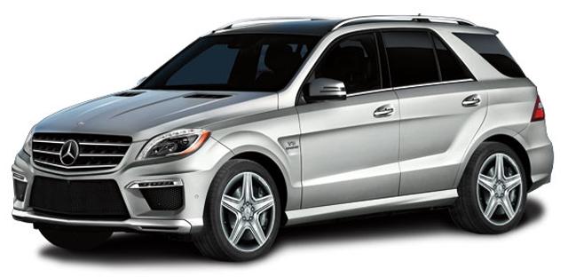 LS004B Mercedes-Benz ML63 AMG, zilver, LS Collectibles
