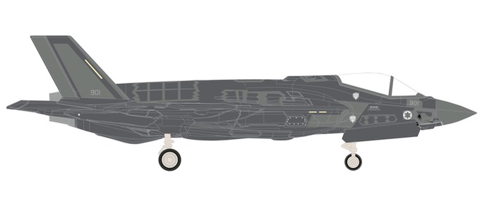 "559300 Lockheed Martin F-35I ""Israeli Air Force 140Spd Golden Eagle"", Herpa Wings"