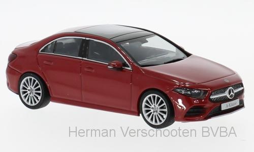 B66960430 Mercedes-Benz A-klasse V177 Limousine, rood, Herpa