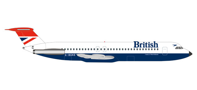 "531733 BAC 1-11-500 ""British Airways - Negus colors"", Herpa Wings"