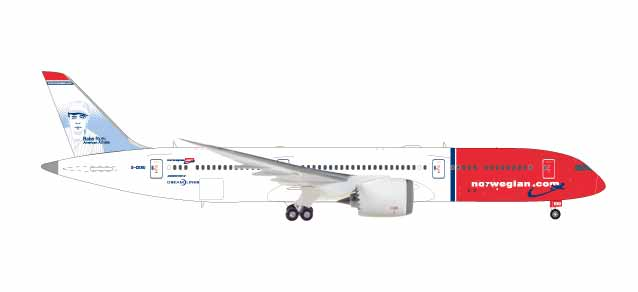 "559140 Boeing 787-9 D. ""Norwegian Babe Ruth"", Herpa Wings"