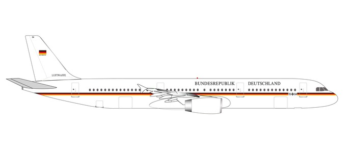 "531986 Airbus A321 ""Luftwaffe Flugbereitschaft 1504"", Herpa Wings"