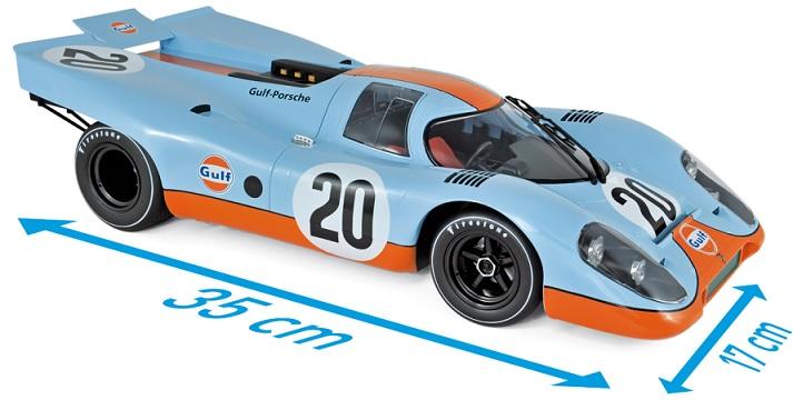 """127500 Porsche 917 24H France 1970 """"Gulf"""", Norev"""