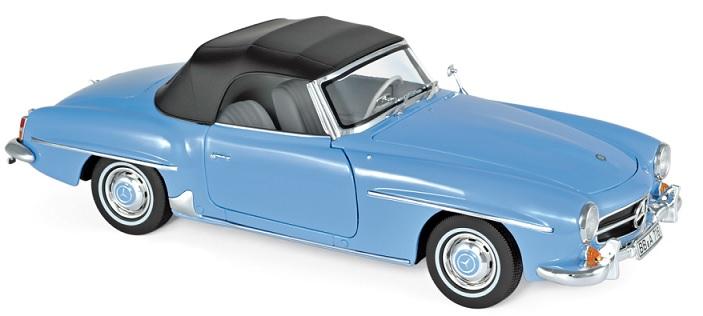 183400 Mercedes-Benz 190SL 1957, blauw, Norev