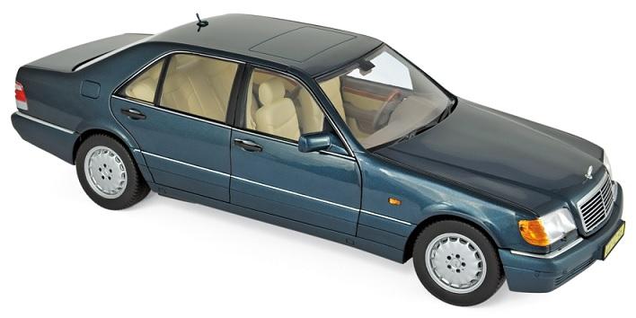 183593 Mercedes-Benz S600 1997, groen met., Norev