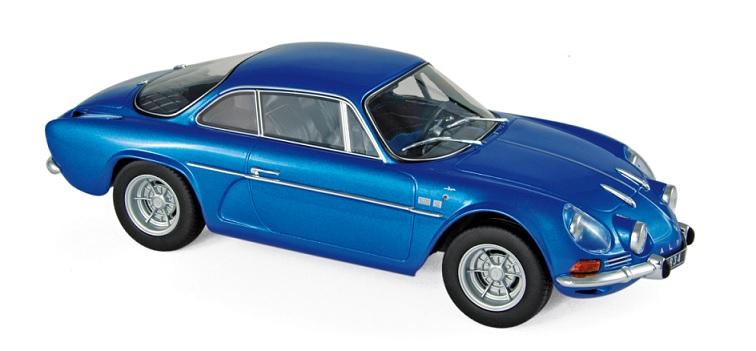 185300 Alpine Renault A110 1600S 1971, blauw, Norev