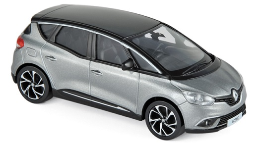 517732 Renault Scenic 2016 Cassiopéé grijs/zwart, Norev