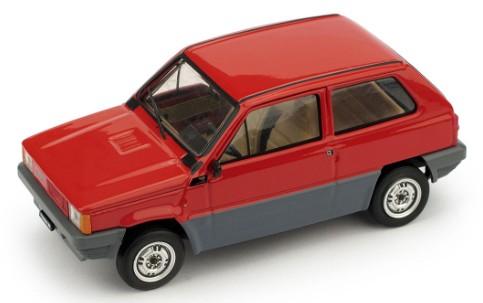 R387-08 Fiat Panda 45 1a serie 1980, rood, Brumm