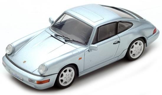 SDC018 Porsche 964 Carrera 4 1989, zilver, Spark