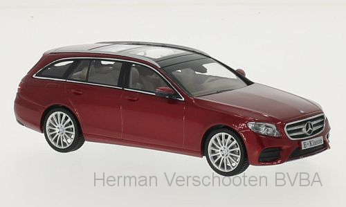 B66960382 Mercedes-Benz E-Klasse T-Modell (S213), met. rood, Kyosho