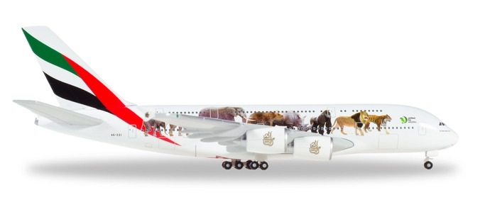 "531764 Airbus A380-800 ""Emirates United for Wildlife"", Herpa Wings"