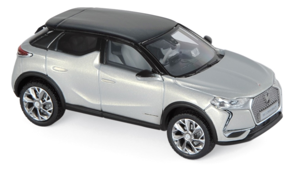 170022 DS 3 Crossback E-Tense 2019, Parel/zwart, Norev