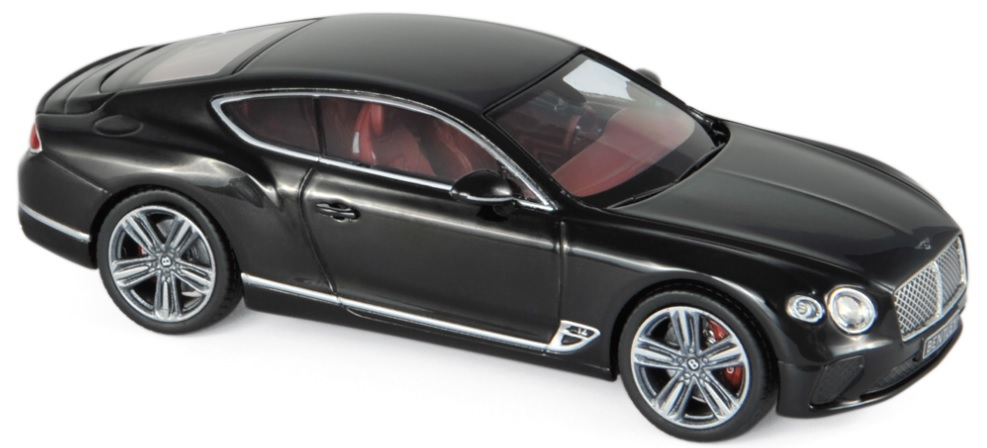 270320 Bentley Continental GT 2018, Beluga Black, Norev