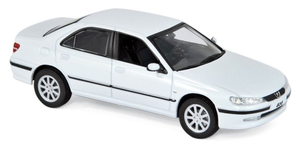 474604 Peugeot 406 2003, Banquise wit, Norev