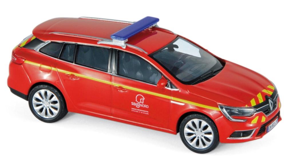 """517797 Renault Megane Estate 2016, """"Pompiers"""", Norev"""