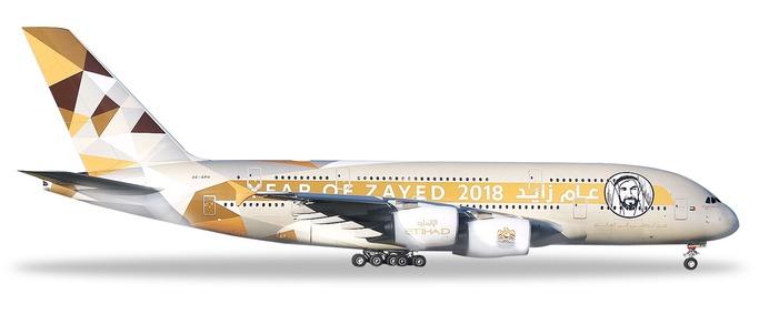 "531948 Airbus A380-800 ""Etihad Airways Year of Zayed"", Herpa Wings"