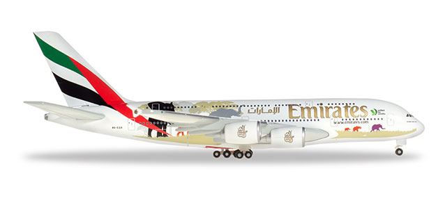 "532723 Airbus A380-800 ""Emirates United for Wildlife (#2)"", Herpa Wings"