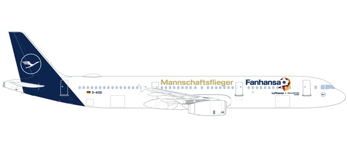 """531979 Airbus A321 """"Lufthansa Fanhansa Lindau"""", Herpa Wings"""