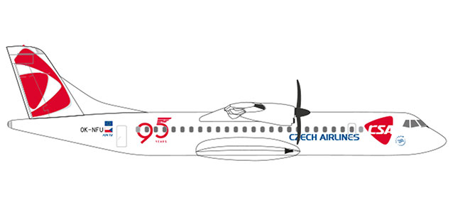 "532792 ATR-72-500 CSA ""Czech Airlines 95 Years"", Herpa Wings"