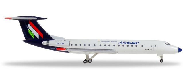 "532914 Tupolev TU-134A 3 ""Malev Hungarian Airlines"", Herpa Wings"